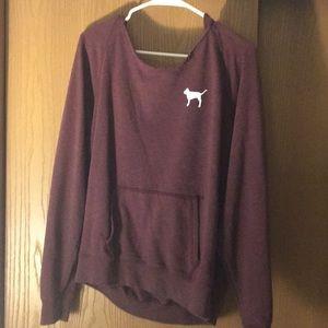 Victoria secret pink hoodie maroon💕